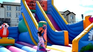 Bouncy Castle Fun for Children at Adventure Park Fun Fair | TheChildhoodLife
