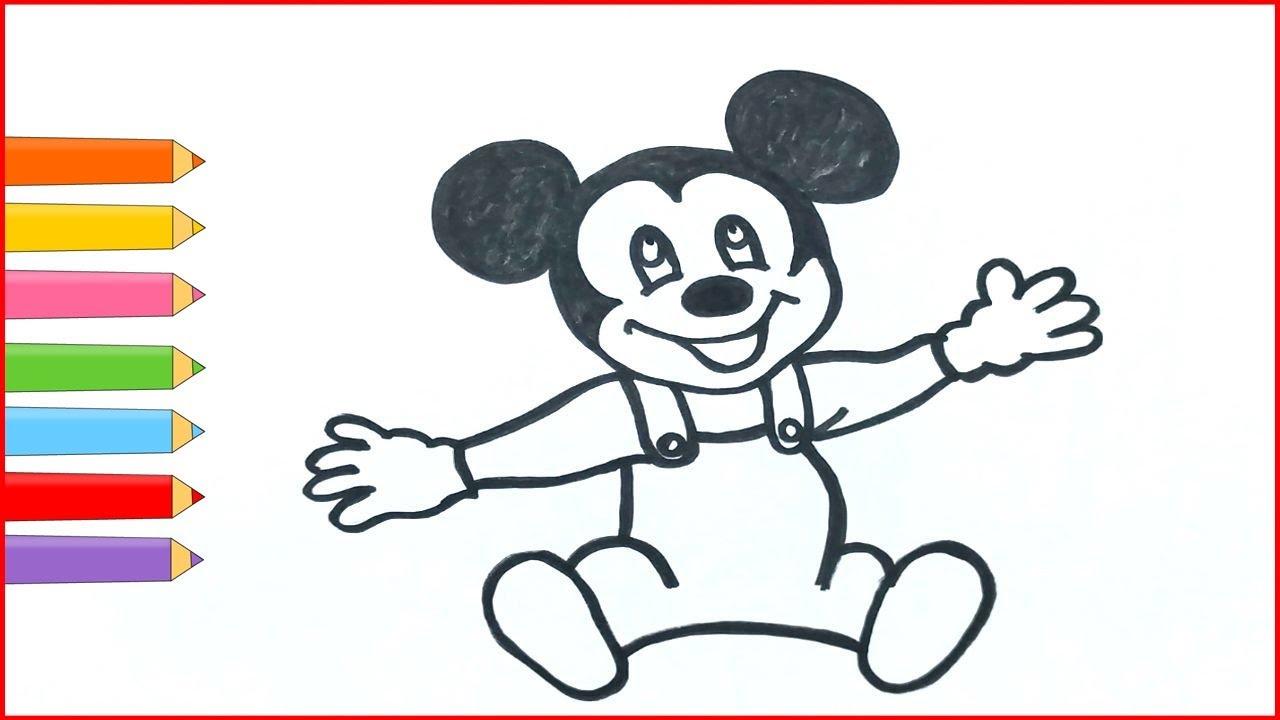 Mickey Mouse Boyama Miki Fare çizimi Renkleri öğreniyorum Youtube
