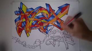 """Graffiti speed drawing """"ALEX GRAFF"""" [HD]"""