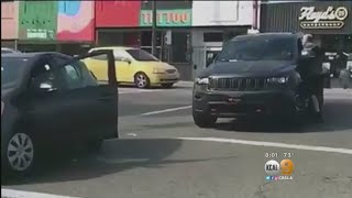 Caught On Camera: Car Door Goes Flying In Road Rage Incident