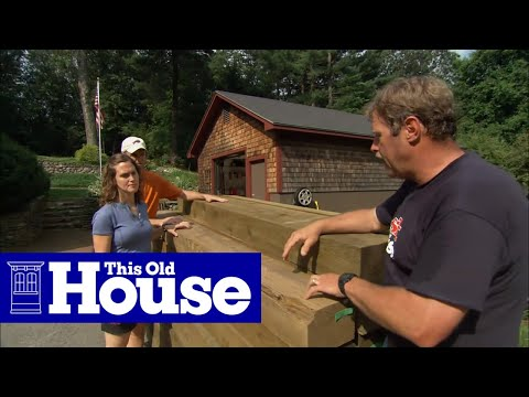 How To Build A Timber Retaining Wall Youtube