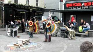 Red Indian Musical Show in Preston City Centre,Lancashire UK