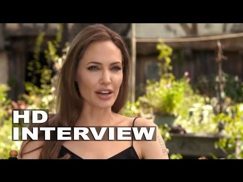 "Maleficent: Angelina Jolie ""Maleficent"" On Set Movie Interview"