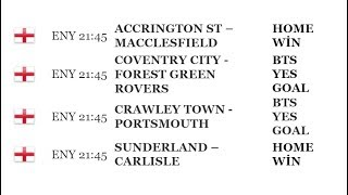 predictions on all the matches for Today,