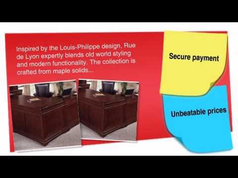 Rue De Lyon Executive Home Office L Desk - ofconcepts.com