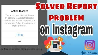 How to solved Report problem on Instagram....