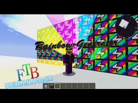 ExtraUtils2 Rainbow Generator - most efficient setup - FTB Hermit Pack -  modded Minecraft 1 10 0