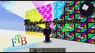 ExtraUtils2 Rainbow Generator - most efficient setup - FTB Hermit Pack - modded Minecraft 1.10.0
