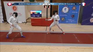 FE 2018 T08 04 F E Individual Yerevan ARM U23 European Championships RED BUECH SUI vs VITALIS FRA thumbnail