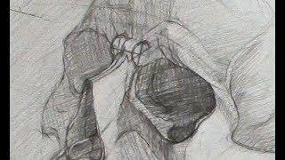 Уроки скульптуры и рисунка: рисунок черепа человека, часть 2
