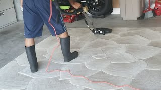Wool Rug Cleaning LIVE Video PART 1 Davenport Fl