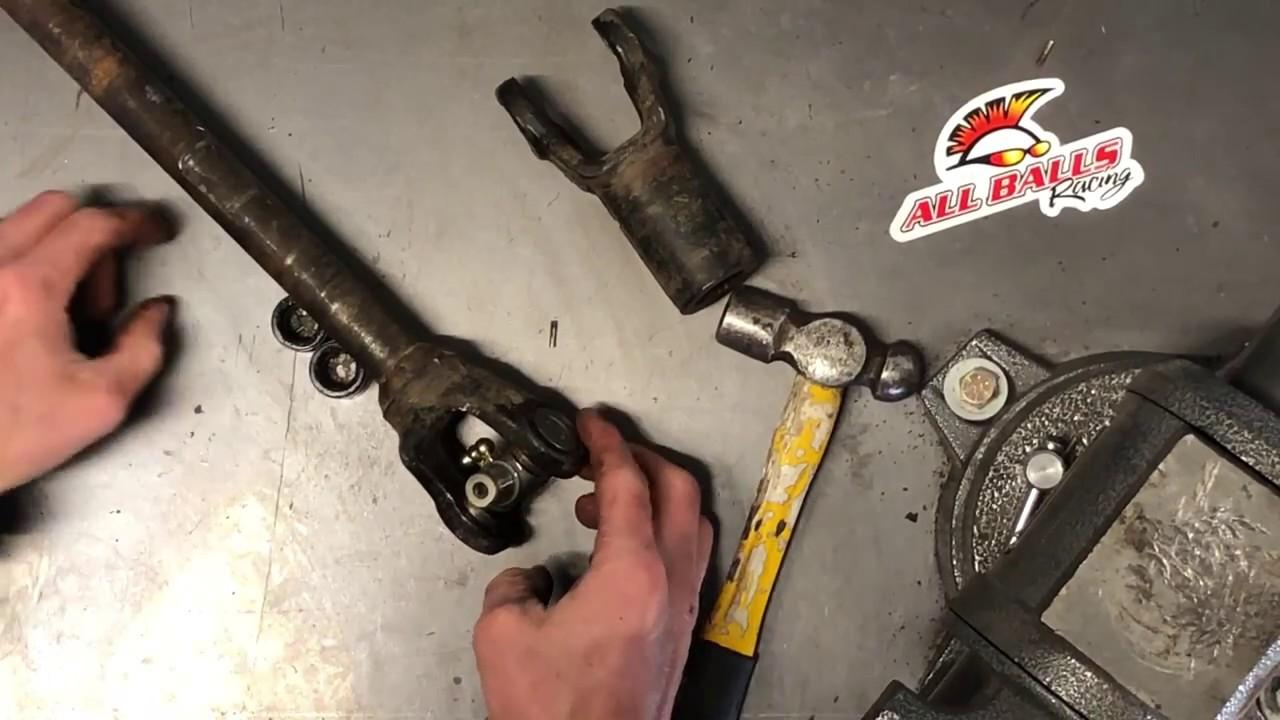 medium resolution of how to remove replace u joint on polaris atv utv ranger sportsman ujoint prop shaft all balls