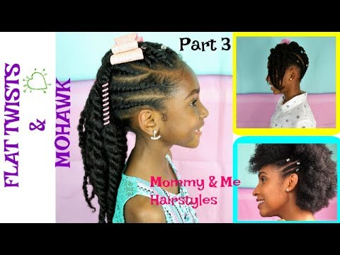 Kids Natural Hair Styles 2 Strand Twists Mohawk Tutorial Mommy