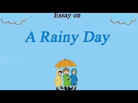 "Write some lines on ""RAINY DAY"" in easy words. - YouTube"