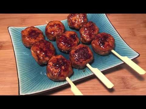 brochettes-de-boulettes-poulet-yakitori-au-monsieur-cuisine-plus-/-thermomix