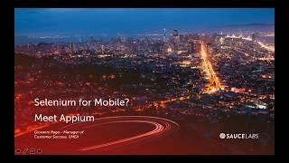 Using Selenium To Test Mobile? Meet Appium
