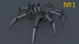Cinema 4D: Робот паук: Урок №1 [HD]