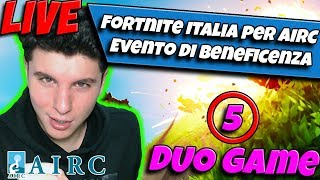 CHARITY EVENT AIRC - Torneo FORTNITE YouTuber e Streamer  (Beneficenza AIRC)