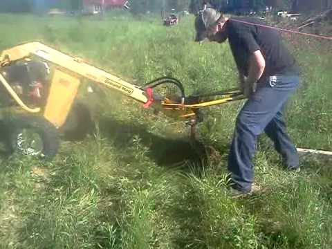 Ground hog towable auger