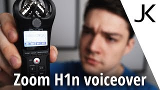 Can you use the Zoom H1n for voiceover recordings?