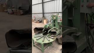 Waste tires rubber cutter/Tire cutter machine working in Chile