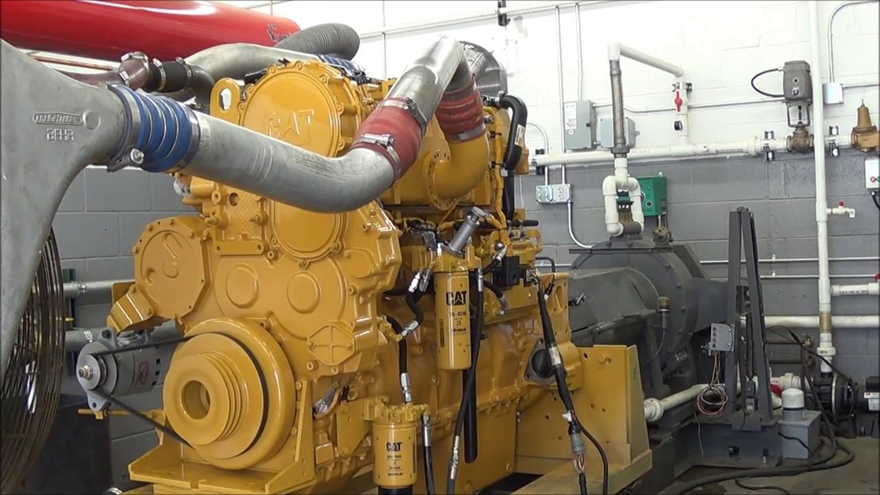 CAT C16 / Caterpillar C16 Industrial Diesel Engine For Sale - Dyno Test