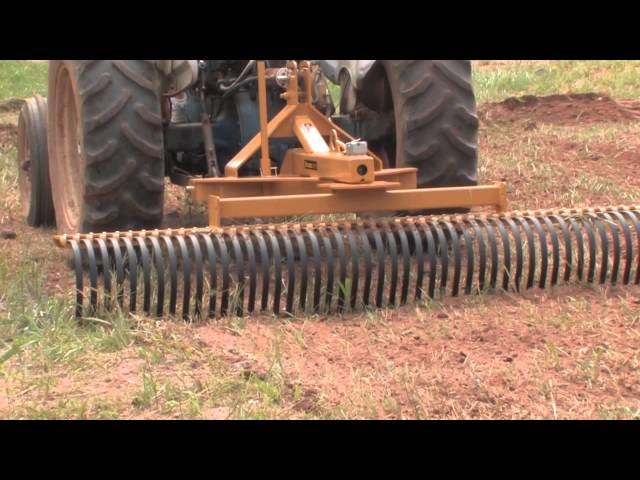 How To Use a Landscape Rake Part 1 - YouTube