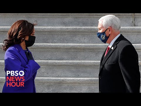 WATCH: Harris escorts the Pences as they depart U.S. Capitol