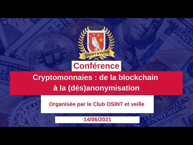 """Retour sur la conférence """"Cryptomonnaies : de la blockchain à la (dés)anonymisation"""""""