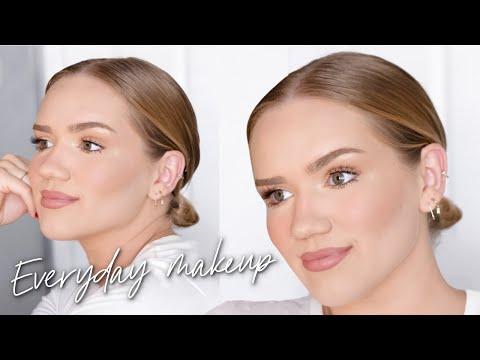 SIMPLE EVERYDAY MAKEUP ROUTINE! fresh \u0026 glowy skin! truly jamie