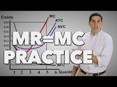 Micro 3.7 MR = MC Practice: Econ Concepts in 60 Seconds for