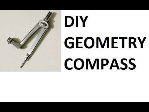 HOW TO MAKE  A GEOMETRIC  COMPASS AT HOME  (very easy) - DIY    SUPERMATHEW DIY  