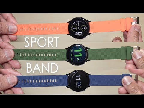 Samsung Galaxy Watch Active 2 Sport Watch Band Assorted Colors (BIGTANG) [4K]