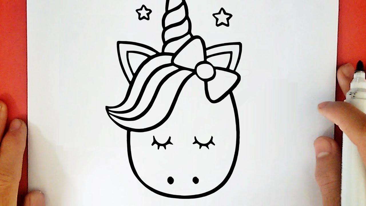 Come disegnare un unicorno kawaii youtube for Disegni facili da disegnare a mano libera