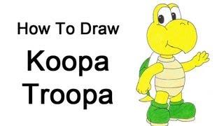How To Draw A Koopa Troopa (nintendo/mario Bros.)