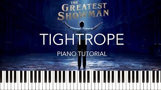 The Greatest Showman - Tightrope (Piano Tutorial & Sheets) (Michelle Williams)