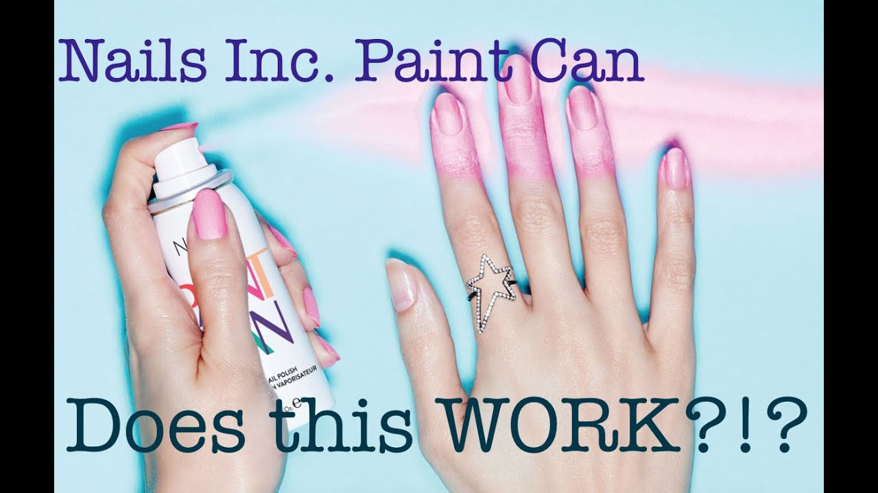 Nails Inc Spray Can Nail Polish First Impression + Review! - YouTube