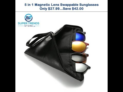 5-in-1-magnetic-lens-swappable-sunglasses---5-different-sunglasses-in-just-one-frame!