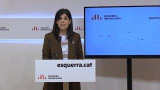 ERC fija cuatro condiciones para cambiar su 'no' al estado de alarma