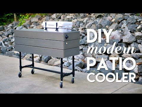 DIY Outdoor Patio Cooler Ice Chest Made Using Basic Tools // Woodworking - How To