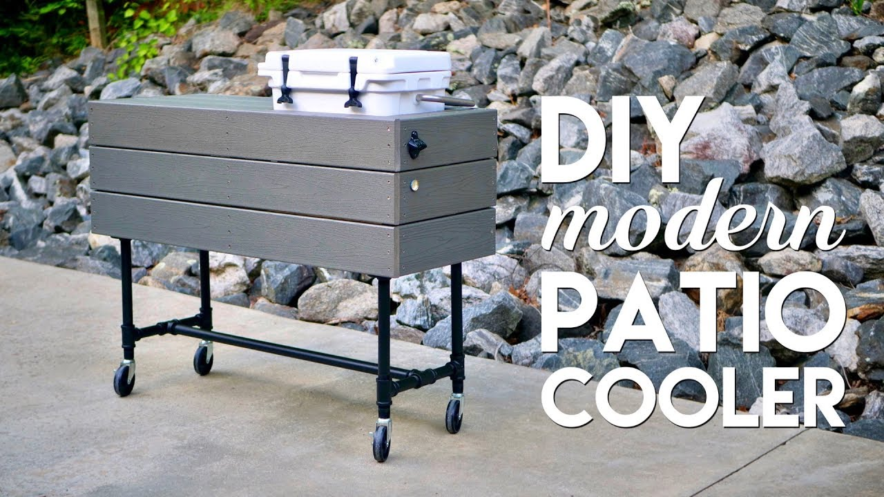 Diy Outdoor Patio Cooler Ice Chest Made
