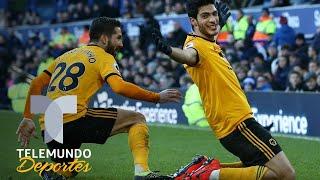 Everton vs. Wolverhampton: ¡Tremenda racha! Golazo de cabeza de Raúl Jiménez | Telemundo Deportes