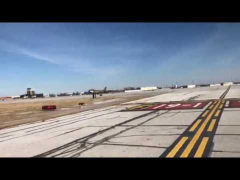 F-86 Sabre landing at CAK