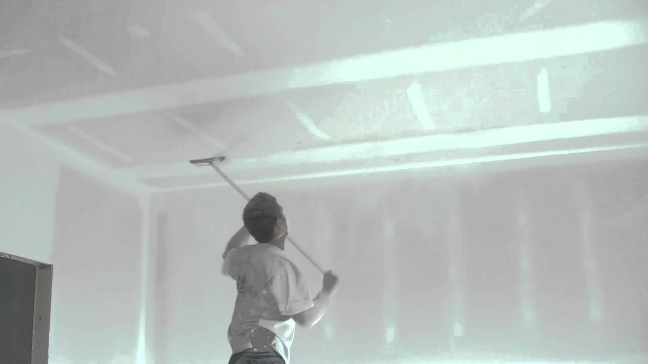 how to drywall finish sanding ceilings youtube. Black Bedroom Furniture Sets. Home Design Ideas