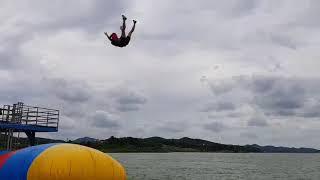 장성 함동 수상 레저 타운 블롭점프