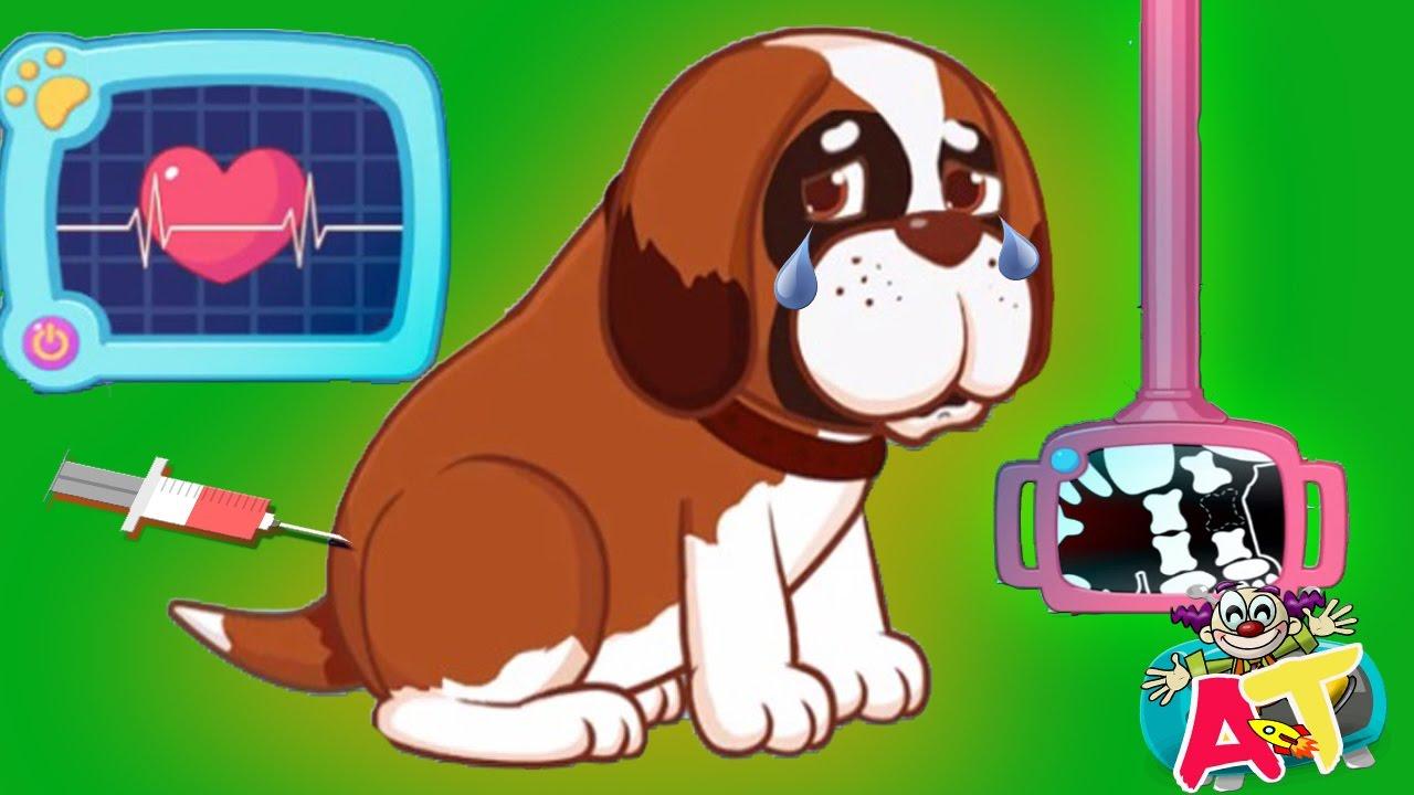 Juegos De Mascotas Pequeña Doctora De Animales Heridos Niños Juegan A Cuidar Perros Juegos Infant Youtube