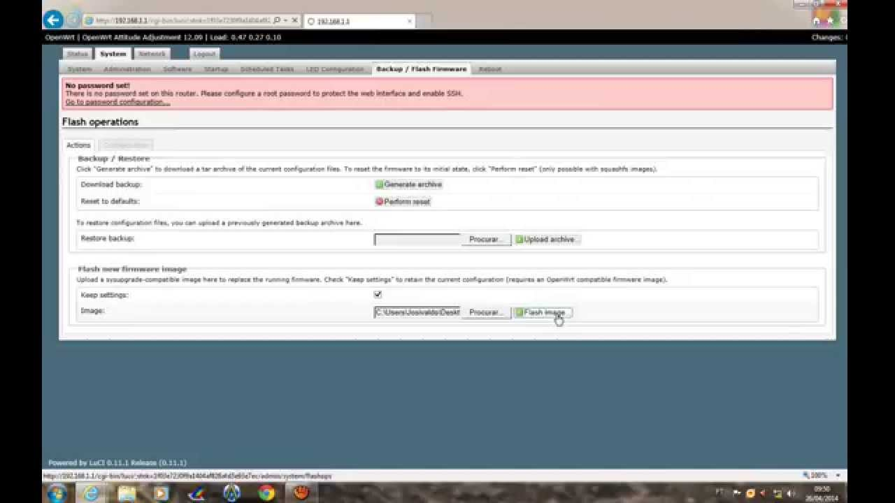 instalação e tradução para portugues do openwrt no tp link tl wr 740