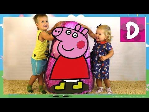 СВИНКА ПЕППА Большое Яйцо Сюрприз от Диана Шоу Peppa Pig GIANT EGG SURPRISE Toys Unboxing