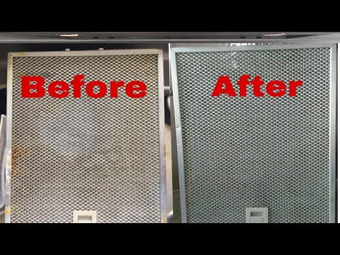 How to Clean STOVE FILTER/EXHAUST FAN OVEN FILTER