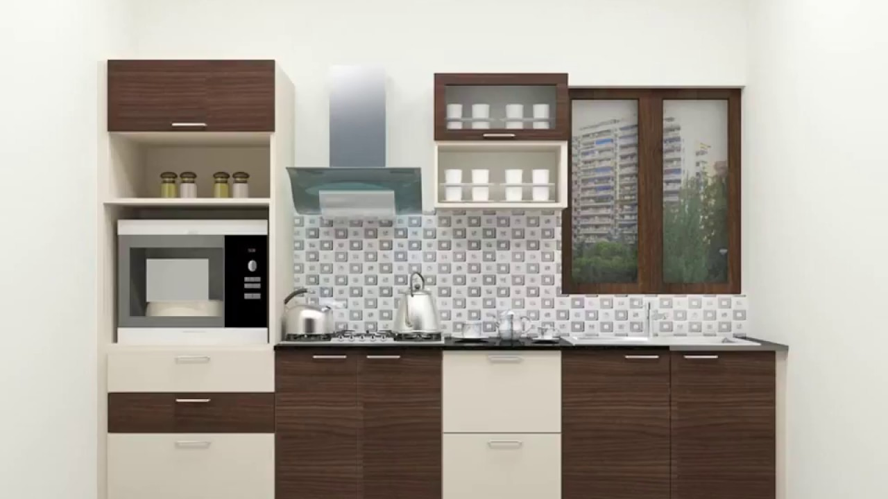 Small Straight Kitchen Design. Small Straight Line Modular Kitchen Designs  YouTube